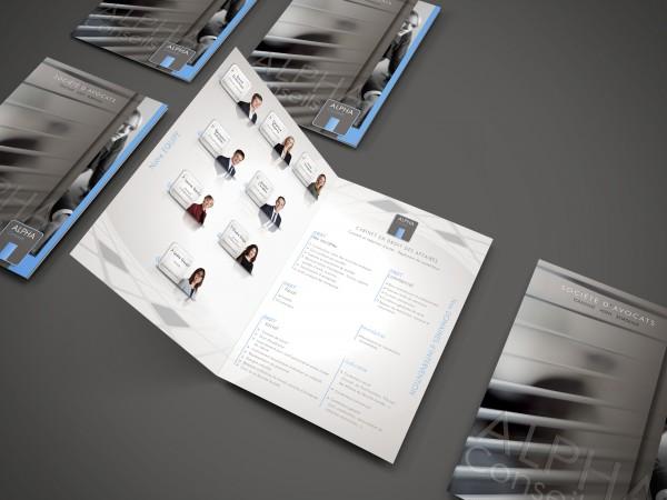Conception et impression de plaquettes commerciales à Agen par (ImageDeMarque) Agence de communication à Agen